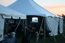 The main tent hosting a presentation about US Naval Observatory
