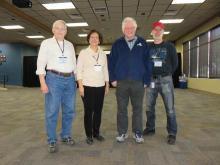 L-R: Ray Fobes, Lorraine Rumley, Dave Westman, Ken Redcap